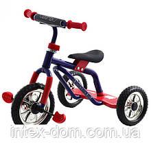 Триколісний велосипед Profi Trike M 0688-3R Синьо-червоний