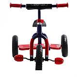 Трехколесный велосипед Profi Trike M 0688-3R Сине-красный, фото 2