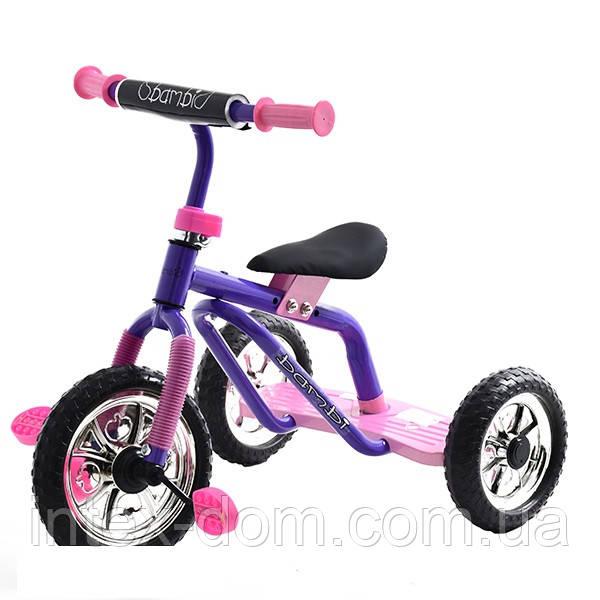 Трехколесный велосипед Profi Trike M 0688-3P Фиолетово-розовый