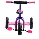 Трехколесный велосипед Profi Trike M 0688-3P Фиолетово-розовый, фото 2