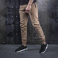 Мужские Джоггеры beZet Casual (sand), мужские весенние штаны джогеры, песчаные легкие брюки