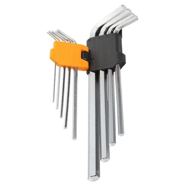 Набор удлиненных Г-образных шестигранных ключей Tolsen 9 шт 1.5-10 мм Cr-V (20049)