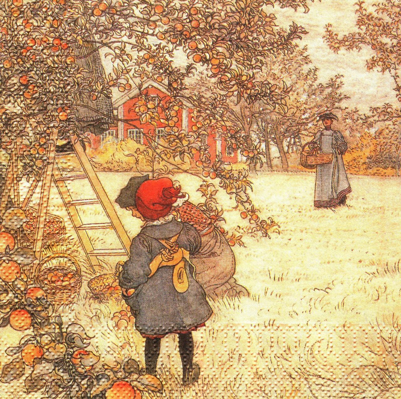 Серветка декупажна Карл Ларсон Врожай яблук 6040