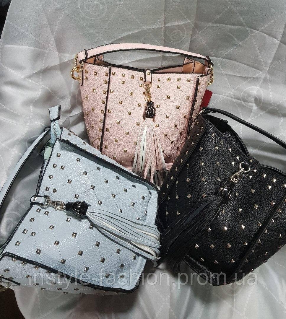 Женская сумка-клатч копия Валентино Valentino качественная эко-кожа выбор цветов