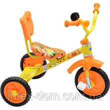 Триколісний велосипед Bambi M1190 Жовтий