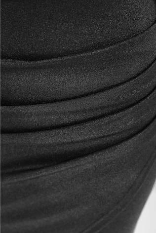 """Ошатне плаття по фігурі з драпіруванням на запах відкриті плечі """"Lillian"""" чорне, фото 2"""