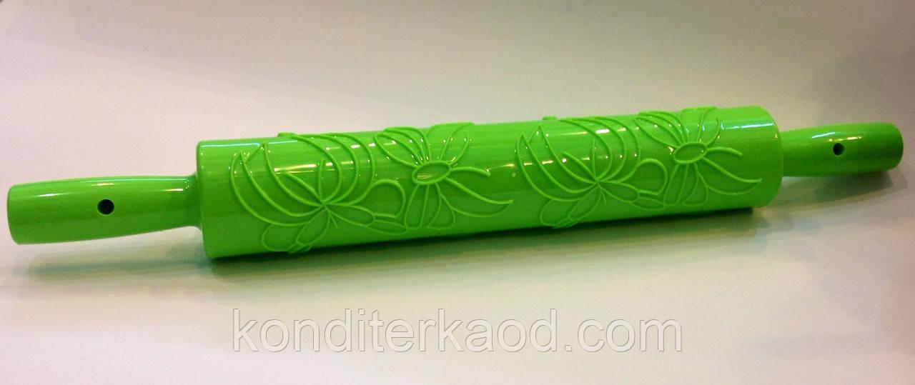 Скалка текстурная с ручками Бабочки