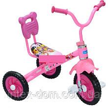 Триколісний велосипед Bambi M1190 Рожевий