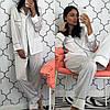 Женский шелковый домашний костюм- пижама в расцветках. КС-1-0219, фото 5