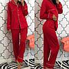 Женский шелковый домашний костюм- пижама в расцветках. КС-1-0219, фото 2
