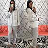Женский шелковый домашний костюм- пижама в расцветках. КС-1-0219, фото 6