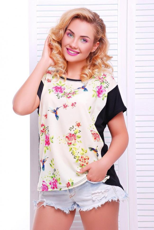 """Модна жіноча літня футболка з принтом """"Air"""""""