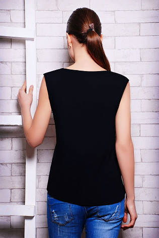 """Молодіжна жіноча класична футболка """"Classic"""" чорна, фото 2"""