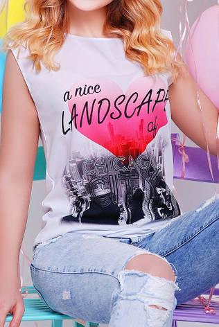 """Жіноча романтична футболка """"Classic"""" з ніжним принтом, фото 2"""