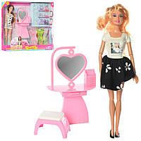 Кукла с нарядом DEFA 8418 (24шт) 29см, шарнирная,трюмо, аксессуары,2вида,в кор-ке,40,5-32-6,5см