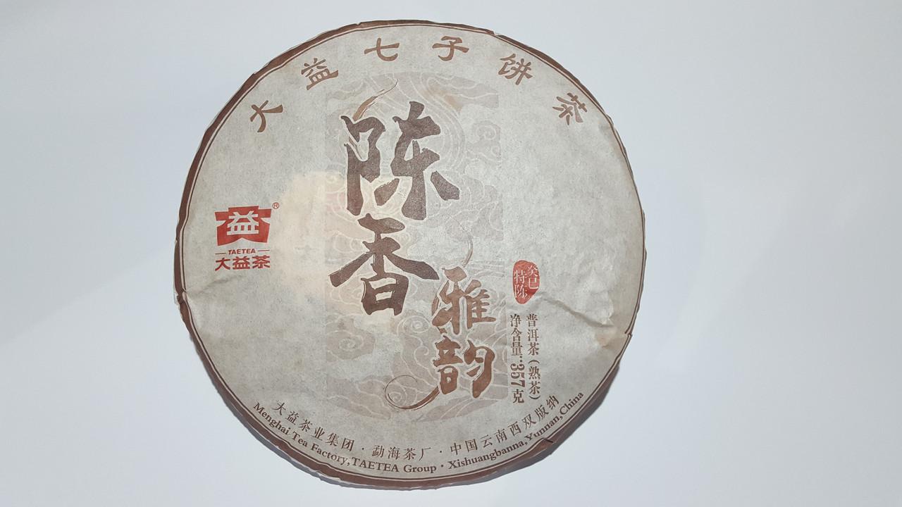 """Шу пуэр """"CHENXIANGYAYU"""" Chenxiang Yayun 357гр. 2015 года. Фабрика """"MENGHAI DAI"""""""