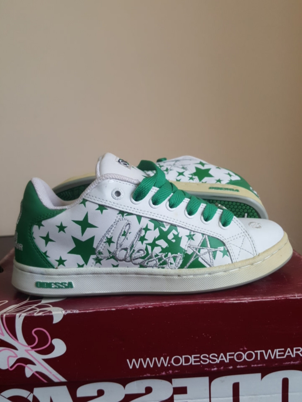 Кроссовки Odessa Baker Gstars wht/green/sil размер 38 (24 см). Уценка