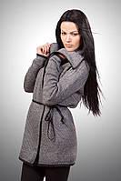 Короткий женский вязанный кардиган