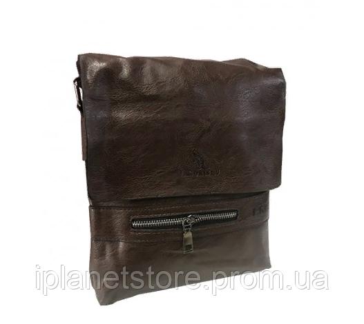 995eccc87fa0 Мужская сумка кожзаменитель через плечо WS12 коричневая: продажа ...