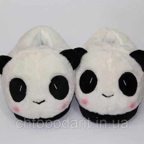 Мягкие тапочки Панды