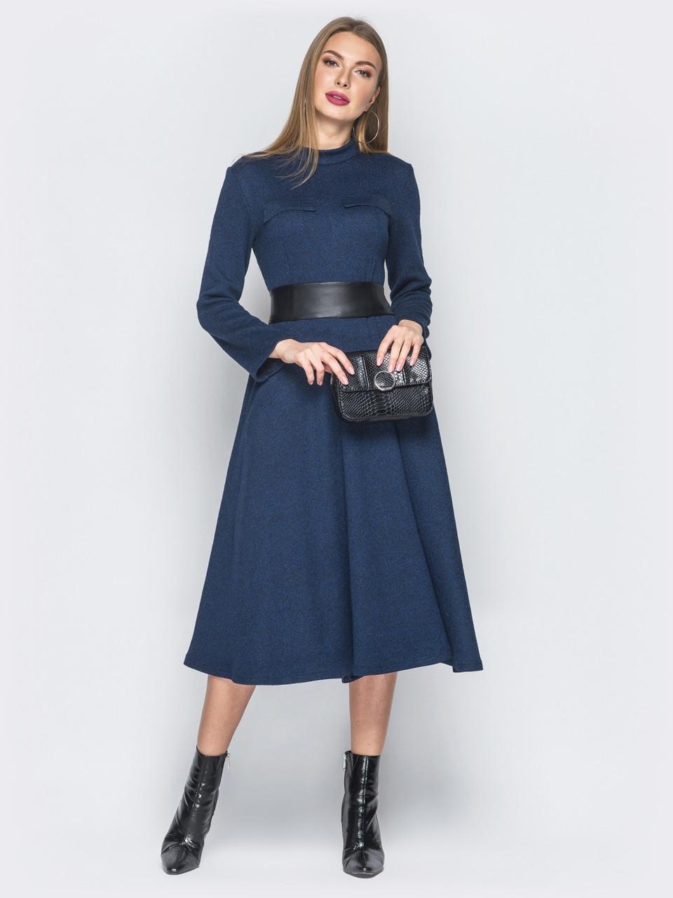 2bf73e5eca2 🌙Повседневное платье-миди с широким кожаным поясом   44