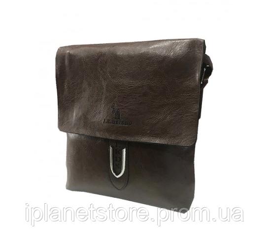 f4fee9b2d3a3 Мужская сумка кожзаменитель через плечо WS-13 коричневая - Интернет магазин MD  Collection в Одессе