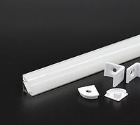 Профиль угловой анодированный для светодиодной ленты,линейки. ХН-076. Премиум. Комплект 1 метр