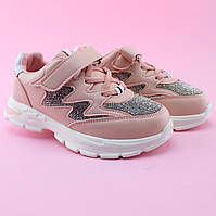 Детские  кроссовки типу skechers девочке пудра стразы Томм размер 31,32,33,34