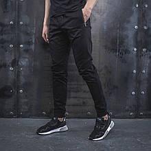 Мужские Джоггеры beZet Casual (Black), мужские весенние штаны джогеры, черные легкие брюки