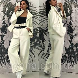 Женский костюм: пиджак с брюками в расцветках. КС-3-0219