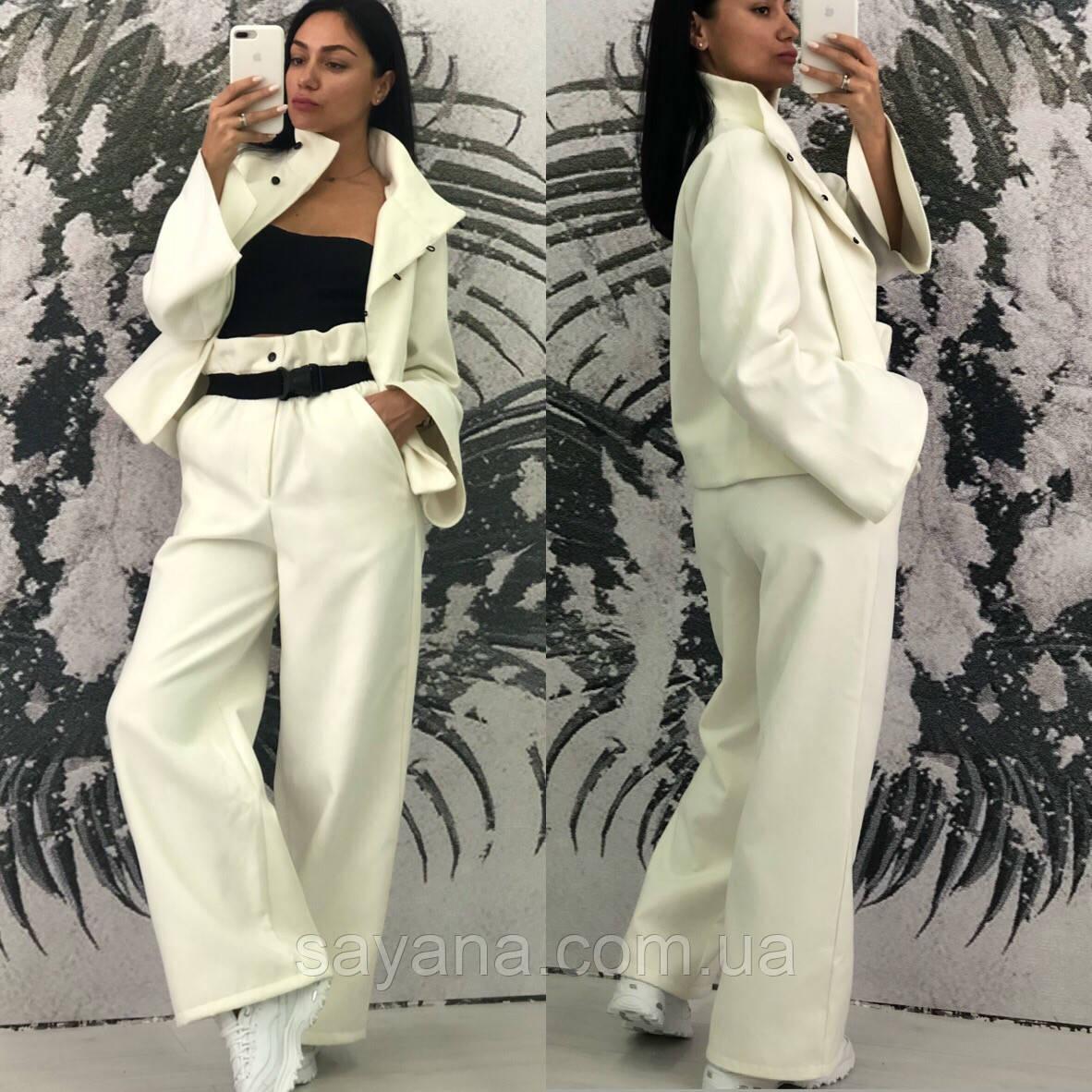 Женский костюм: пиджак с брюками в расцветках. КС-3-0220