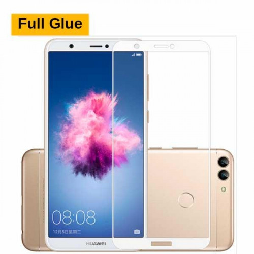 Стекло Full Glue для Huawei P SMART с белой рамкой