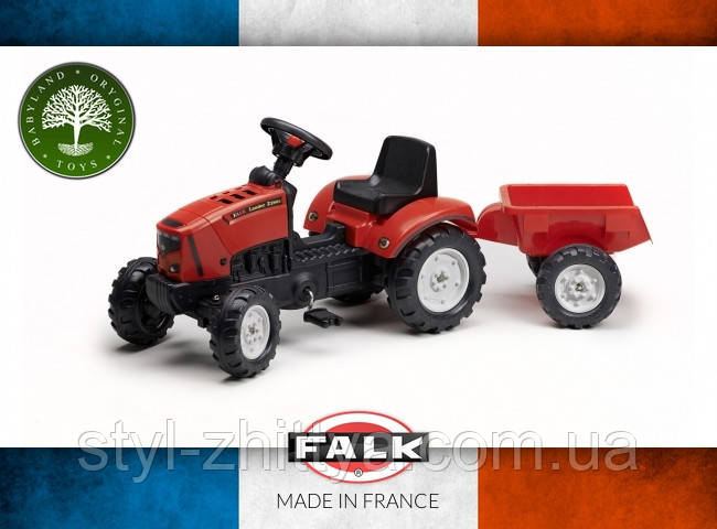 Дитячий трактор з причепом, відкривається FALK 2031