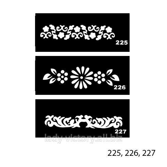 Трафареты для тату. TT-225, 226, 227