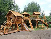 Детский игровой комплекс из дикого дерева