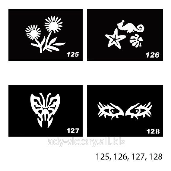 Трафарети для тату. TT-125, 126, 127, 128