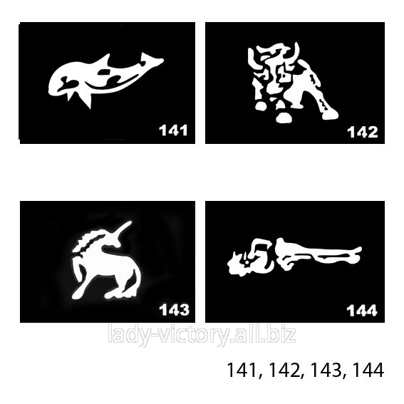 Трафарети для тату. TT-141, 142, 143, 144