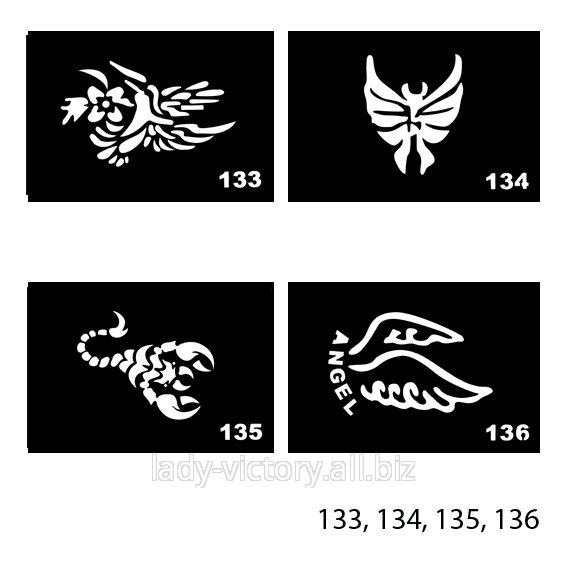 Трафарети для тату. TT-133, 134, 135, 136