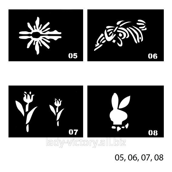 Трафарети для тату. TT-05, 06, 07, 08