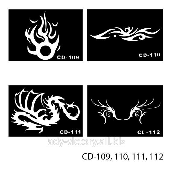 Трафарети для татуажу. CD-109, 110, 111, 112