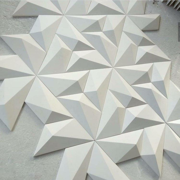 "Пластиковая форма для 3d панелей ""Трапеция"" 50*24 (форма для 3д панелей из абс пластика)"