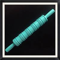 Скалка текстурная с ручками Полоски, фото 1