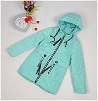 Куртка для девочки  1931 весна-осень, размеры 134-158, мята, фото 1