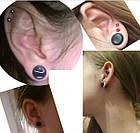 Тоннели в ухо 8 мм, разноцветные, 1 пара, фото 3