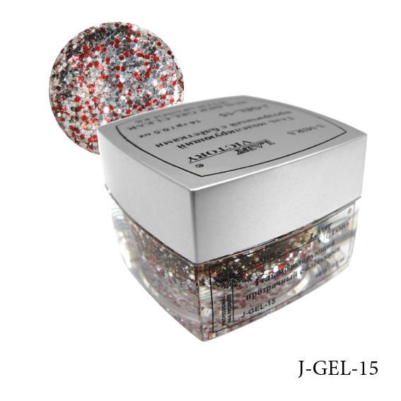 Моделирующий гель с блестками   J-GEL-(11-20) 15