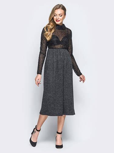 ec4f425d1eb 🌙Теплое платье с завышеной талией (черное