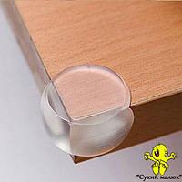 Захист на кути силіконовий, прозорий (4шт)  - CM00409