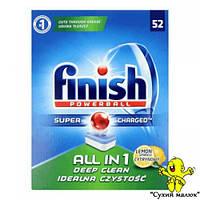 Таблетки до посудомийної машини Finish All in 1 Lemon 52 таблетки  - CM01030