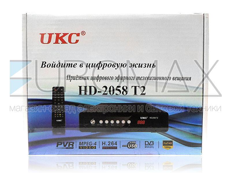 Цифровой эфирный приемник DVB-T2 UKC металлический с поддержкой WIFI адаптера T2-2058