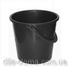 Ведро 8 литров черное